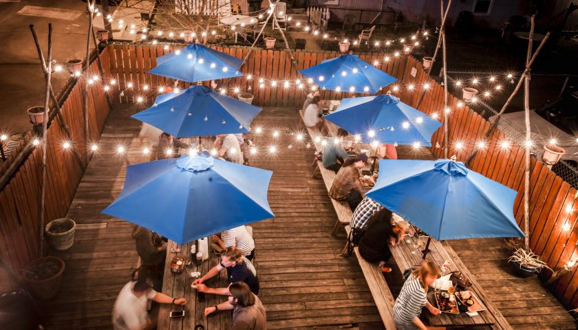 Blue Pit BBQ outdoor dining