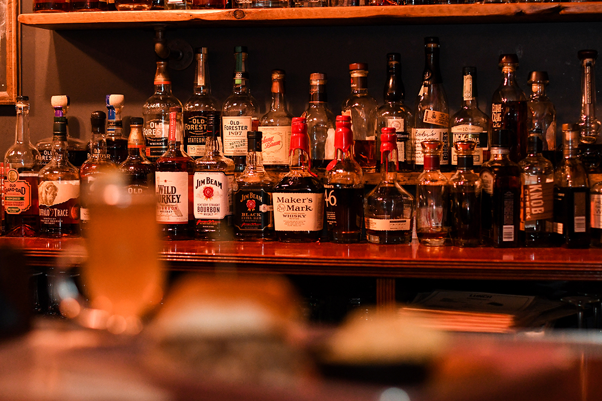 Whiskey Bar at Blue Pit BBQ